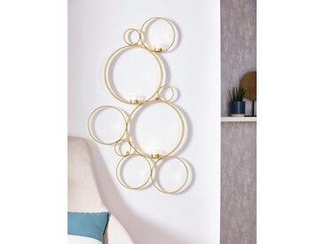 Leonique Wandkerzenhalter »Kreise«, Kerzen-Wandleuchter, Kerzenhalter, Kerzenleuchter hängend, Wanddeko, mit 3 Teelichthalter