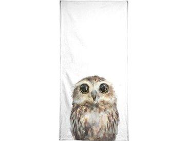 Juniqe Handtuch »Little Owl« (1-St), Weiche Frottee-Veloursqualität