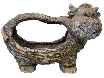 HTI-Line Tierfigur »Pflanzgefäß Borke Kuh«