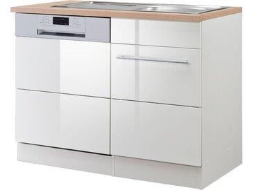 HELD MÖBEL Spülenschrank »Wien« Breite 110 cm, weiß, weiß Hochglanz