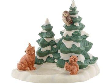 Goebel Dekofigur »Waldtiere im Schutz der Bäume«, Baumgruppe mit Fuchs, Eichhörnchen und Eule