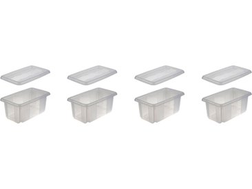 keeeper Aufbewahrungsbox »emil« (Set, 4 Stück), weiß, transparent