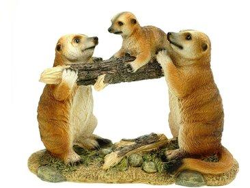 Kremers Schatzkiste Gartenfigur »Erdmännchenfamilie mit Kind«