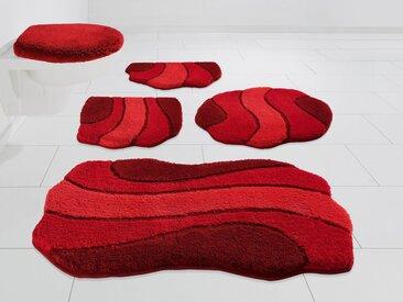 Kleine Wolke EXKLUSIV Badematte »Princess« , Höhe 30 mm, rutschhemmend beschichtet, strapazierfähig, rot, rot
