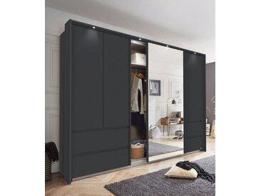 rauch ORANGE Schwebetürenschrank »Wetzlar« mit Spiegel, grau, Schubladen: 4 - Türen: 5, graumetallic