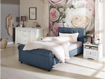 Home affaire Polsterbett »Goronna«, in 5 verschiedenen Farben und 4 Breiten, blau, blau