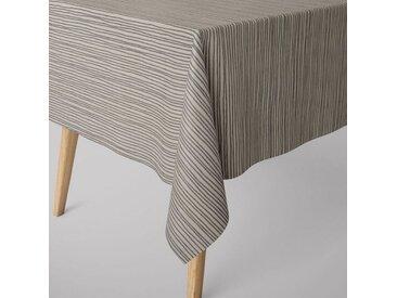 SCHÖNER LEBEN. Tischdecke » Tischdecke Streifen Linien schwarz wollweiß verschiedene Größen«, handmade