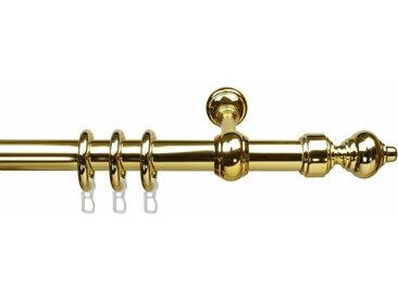 Liedeco Gardinenstange »Thüringen«, Ø 28 mm, 1-läufig, Fixmaß, goldfarben, vermessingt