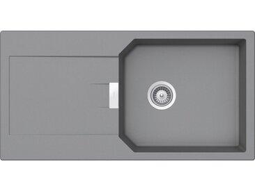 Schock Granitspüle »Manhattan D-100L«, rechteckig, mit Restebecken, grau, Croma