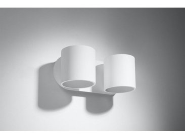 Licht-Erlebnisse Wandleuchte »VALERYA Wandlampe Weiß Metall B:26cm H:12cm 2xG9 Up Down Flur Treppe«