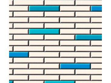 living walls Schaumtapete »Il Decoro«, Fliesen-Optik, blau, creme-schwarz
