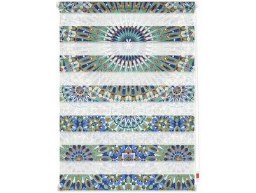 LICHTBLICK Doppelrollo »Duo Rollo Motiv Orientalisches Muster«, Lichtschutz, ohne Bohren, freihängend, bedruckt