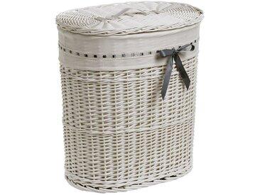 heine home Wäschesammler mit Schleife, weiß, ca. 57/51/37 cm, weiß