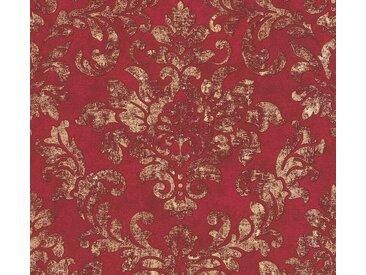 A.S. Création Vliestapete »Neue Bude 2.0 Used Glam mit Ornamenten barock«, strukturiert, Barock, rot, rot