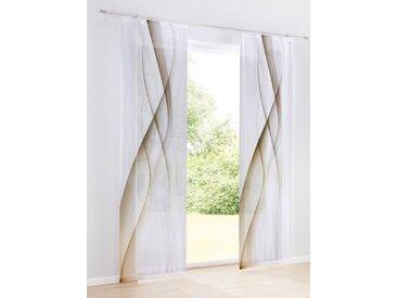 heine home Schiebevorhang bedruckt, natur, mit Universalgardinenband, sand