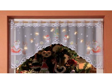 WILLKOMMEN ZUHAUSE by ALBANI GROUP Panneaux »Weihnachtsmann«, Stangendurchzug (1 Stück), Jacquard-Panneauxbogen, handcoloriert