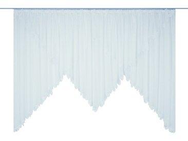 Wirth Gardine »Elena«, Faltenband (1 Stück), veredelt mit echter Plauener Spitze Stickerei, gezackt
