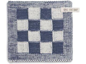 Knit Factory Tischdecke »Topflappen Block Ecru/Jeans«