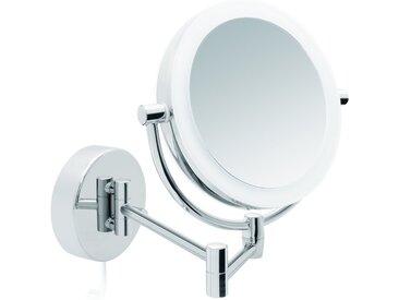 Libaro Kosmetikspiegel »Modena«, LED Kosmetikspiegel, Vergrößerungsspiegel zweiseitig, 360° Schminkspiegel, Wandmontage und Dimmerfunktion