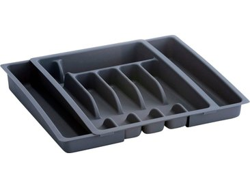Zeller Present Besteckkasten (1 Stück), ausziehbar, grau, grau