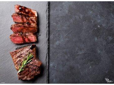 Tischsetmacher Platzset, »Tischsets I Platzsets - Grillen - Fleisch links - 12 Stück aus hochwertigem Papier 44 x 32 cm«, (12-St)