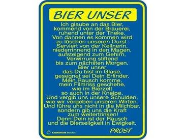 Rahmenlos Blechschild für den Bier-Liebhaber, blau, mehrfarbig