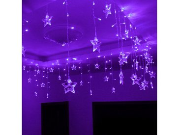 TOPMELON LED-Lichtervorhang »Lichtervorhänge«, 96-flammig, lila, Lila