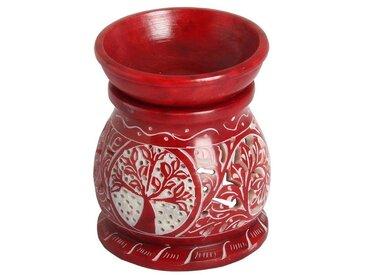 Casa Moro Duftlampe »Orientalische Duftlampe Shakir-4 aus Soapstone geschnitzt 10x10x11 cm (B/T/H) Diffusor, Teelicht-Halter für Aromatherapie
