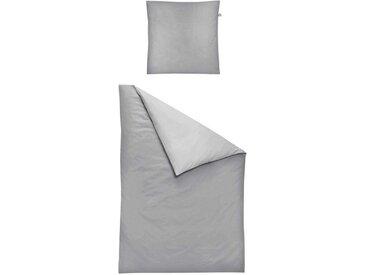 Irisette Bettwäsche »Satin Kopfkissenbezug Bio 40x 40 cm Aspen Silber«