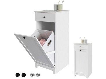 SoBuy Wäscheschrank »BZR21/BZR33« Wäschetruhe mit 1 ausklappbarem Wäschesack, Schubladen: 1 - Türen: 1