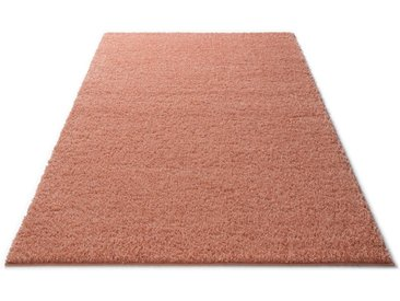 Home affaire Hochflor-Teppich »Shaggy 30«, rechteckig, Höhe 30 mm, orange, apricot