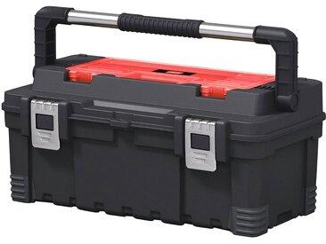 Keter KETER Werkzeugkasten »Hawk«, 54x28x24 cm, 24 l Fassungsvermögen, schwarz, schwarz