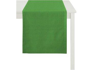 APELT Tischläufer »Arizona, Uni-Basic« (1-tlg), Leinenoptik, grün, grün