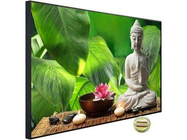 Papermoon PAPERMOON Infrarotheizung »EcoHeat - Buddah in Meditation«, Aluminium, 600 W, 60 x 100 cm, mit Rahmen, bunt, bunt