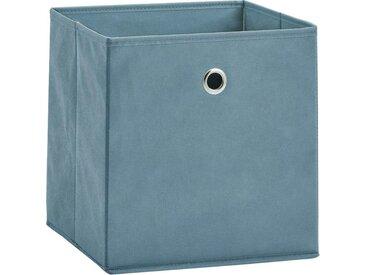 Zeller Present Aufbewahrungsbox (Set, 2 Stück), faltbar und schnell verstaut, blau, blau
