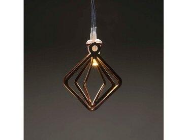 KONSTSMIDE LED Dekolichterkette, Metallkegel, braun, Lichtquelle warm-weiß, Kupfer