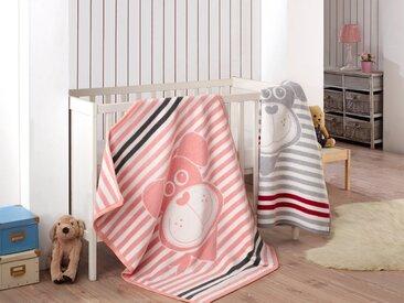 SEI Design Babydecke »90x120 Welpe Silber-grau Kuscheldecke«, Wendedecke