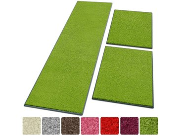 Floordirekt Hochflor-Bettumrandung »Dynasty 1A« , Höhe 8.5 mm, (3-tlg), Velours, grün, Grün