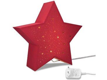 Navaris LED Dekolicht, LED Leuchtstern mit Stromkabel - warmweiß - 31x33x10cm - Deko Sternlampe mit Schalter - ideal zu Weihnachten - Fensterdeko Beleuchtung