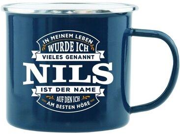 HTI-Living Becher »Echter Kerl Emaille Becher Nils«