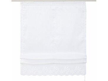 Home affaire Raffrollo »Neapel«, mit Klettband, weiß, weiß