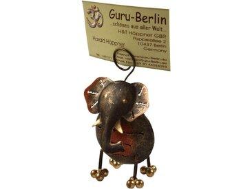 Guru-Shop Dekofigur »Visitenkartenhalter, Fotohalter `Elefant`«
