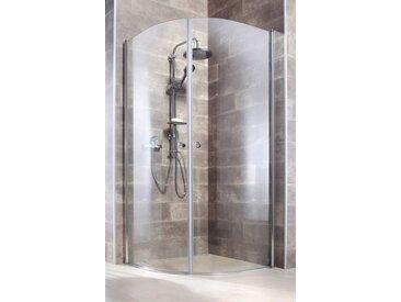 welltime WELLTIME Runddusche »Florenz«, Viertelkreisdusche, BxT: 90 x 90 cm, 2 Türen, silberfarben, chromfarben