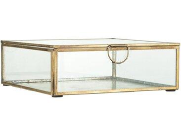 Ib Laursen Holzkiste »Glasbox Serviettenhalter Schmuckkasten Glas Dose Messing Gold 0884-17«