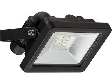 Goobay LED Außen »Flutlichtstrahler 10 W«, schwarz, Schwarz