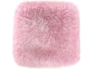 LUXOR living Fellkissen »Namika«, Dekokissen, eckig, 35x35 cm, echtes Lammfell, inkl. Kissenfüllung, Wohnzimmer, rosa, altrosa