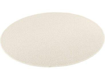 Snapstyle Designteppich »Bentzon Natur Flachgewebe Teppich Rund«, Rund, Höhe 5 mm, beige, Sand
