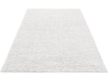 Home affaire Hochflor-Teppich »Shaggy 30«, rechteckig, Höhe 30 mm, gewebt, weiß, snow