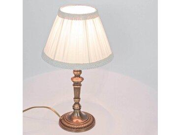 Licht-Erlebnisse Tischleuchte »ABAT-JOUR 167 Tischleuchte Messing bronziert Premium Nachttischlampe Lampe«