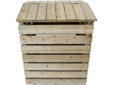 NATIV Garten Komposter »Komposter aus Holz mit Deckel«, BxTxH: 72x75,6x91,5 cm, mit aufklappbaren Deckel
